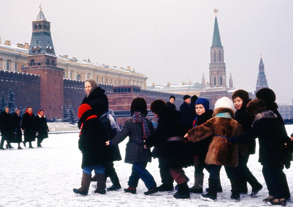 Томас Хаммонд. Дети на Красной площади. 12 марта 1964 г.