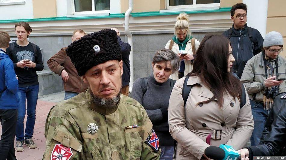 Казак - сторонник храма Святой Екатерины в Екатеринбурге