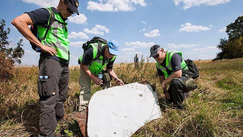 Расследование на месте крушения MH-17