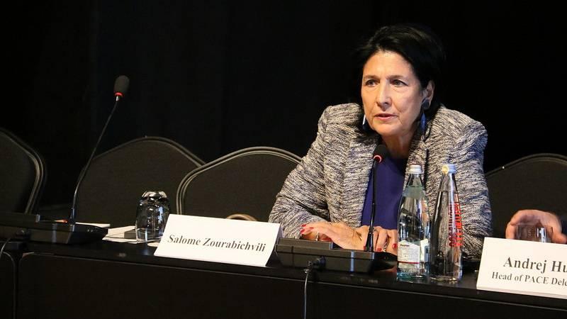 избранный президент Грузии Саломе Зурабишвили
