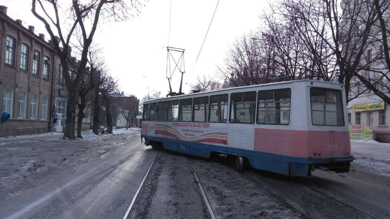 Авария трамвая №2 в Таганроге