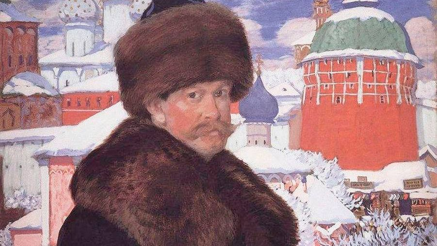 Борис Кустодиев. Автопортрет (фрагмент). 1912