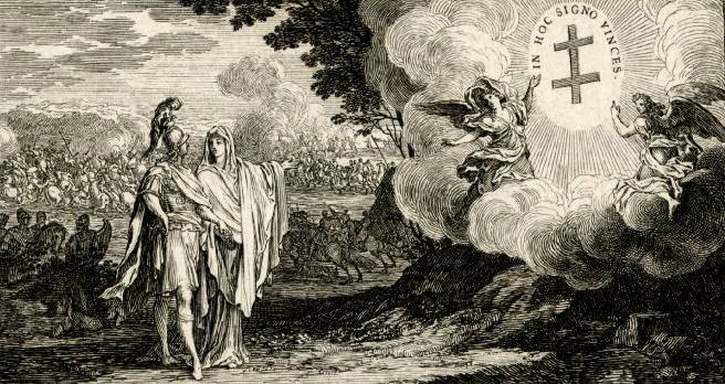 Религия показывает Карлу Леопольду лотарингский крест. 1703–1704