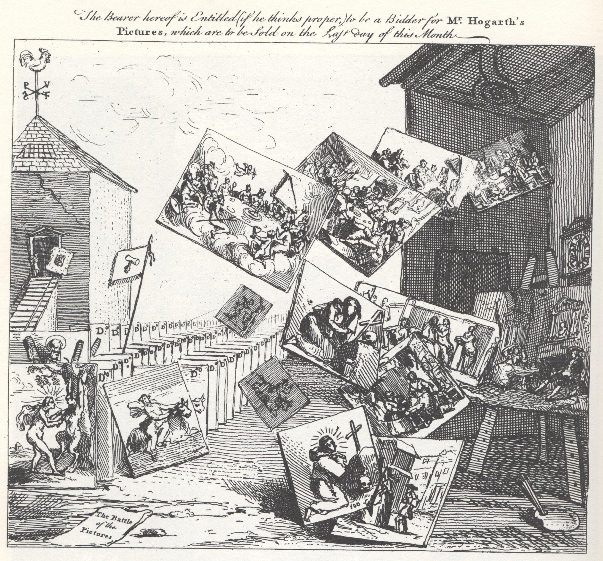 Уильям Хогарт. Битва картин. 1743