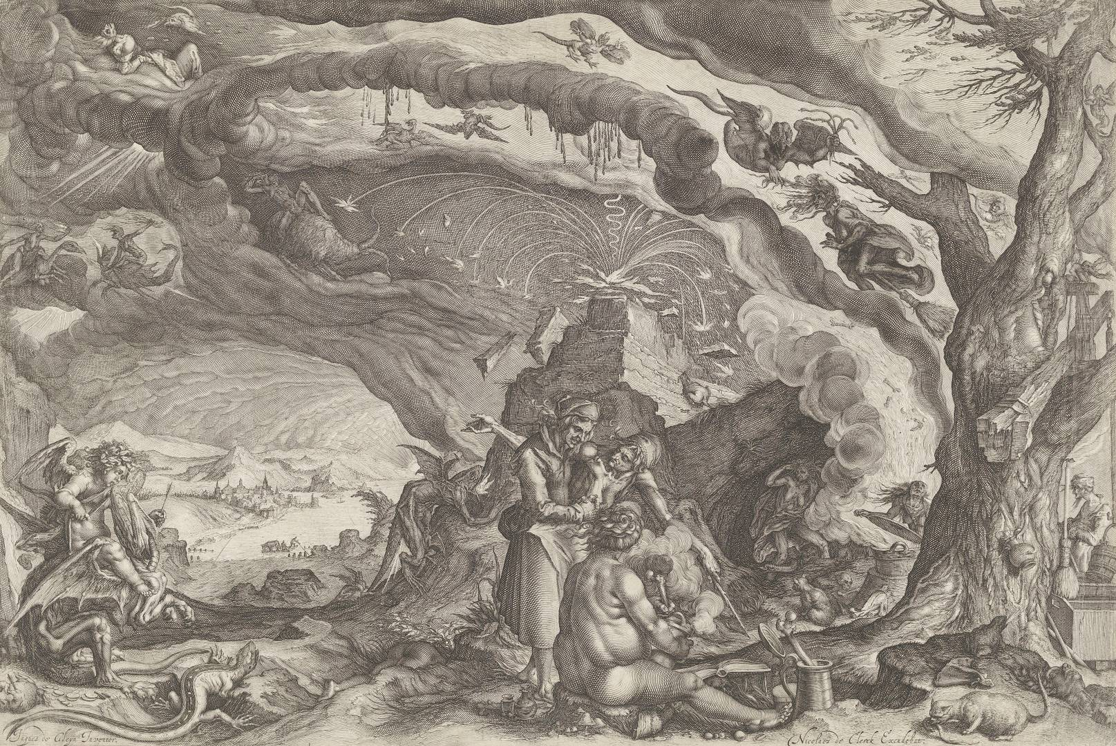Андрис Якобз Сток. Ведьмы готовятся к шабашу. Ок. 1610