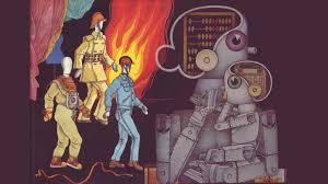 Иллюстрация советских взглядов конца 80-х годов на будущее робототехники