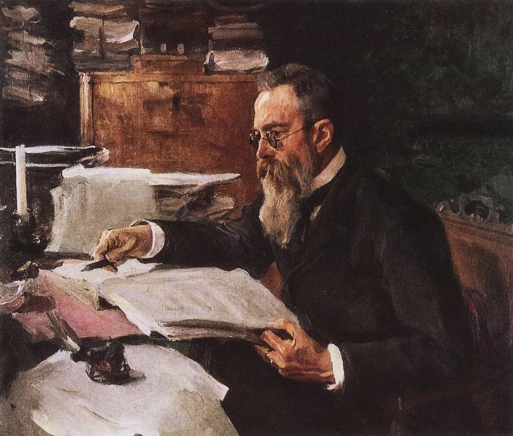 Валентин Александрович Серов. Портрет композитора Н. А. Римского-Корсакова. 1898 год.