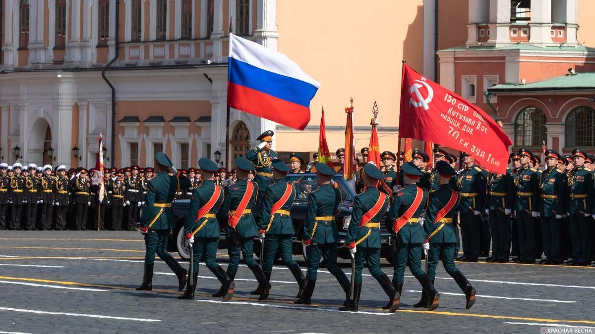 Знамя Победы на параде 9 мая 2018 года