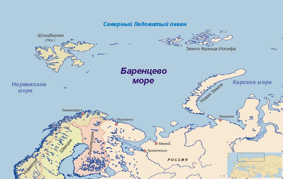 Баренцево море. ЛицензияCreative Commons.