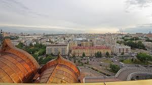 Вид с Храма Христа Спасителя на часть Хамовников