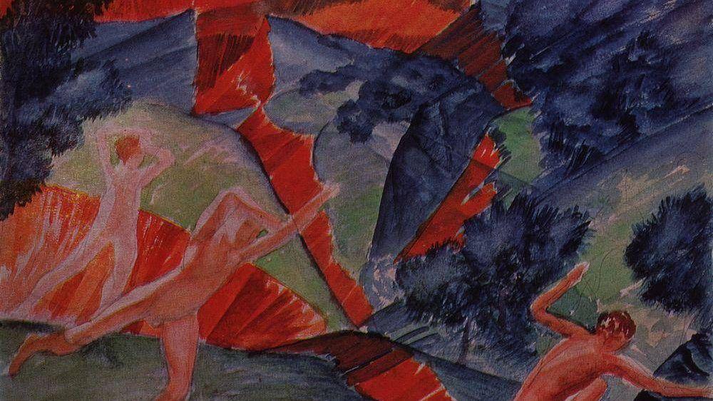 Кузьма Петров-Водкин. Ураган. 1914