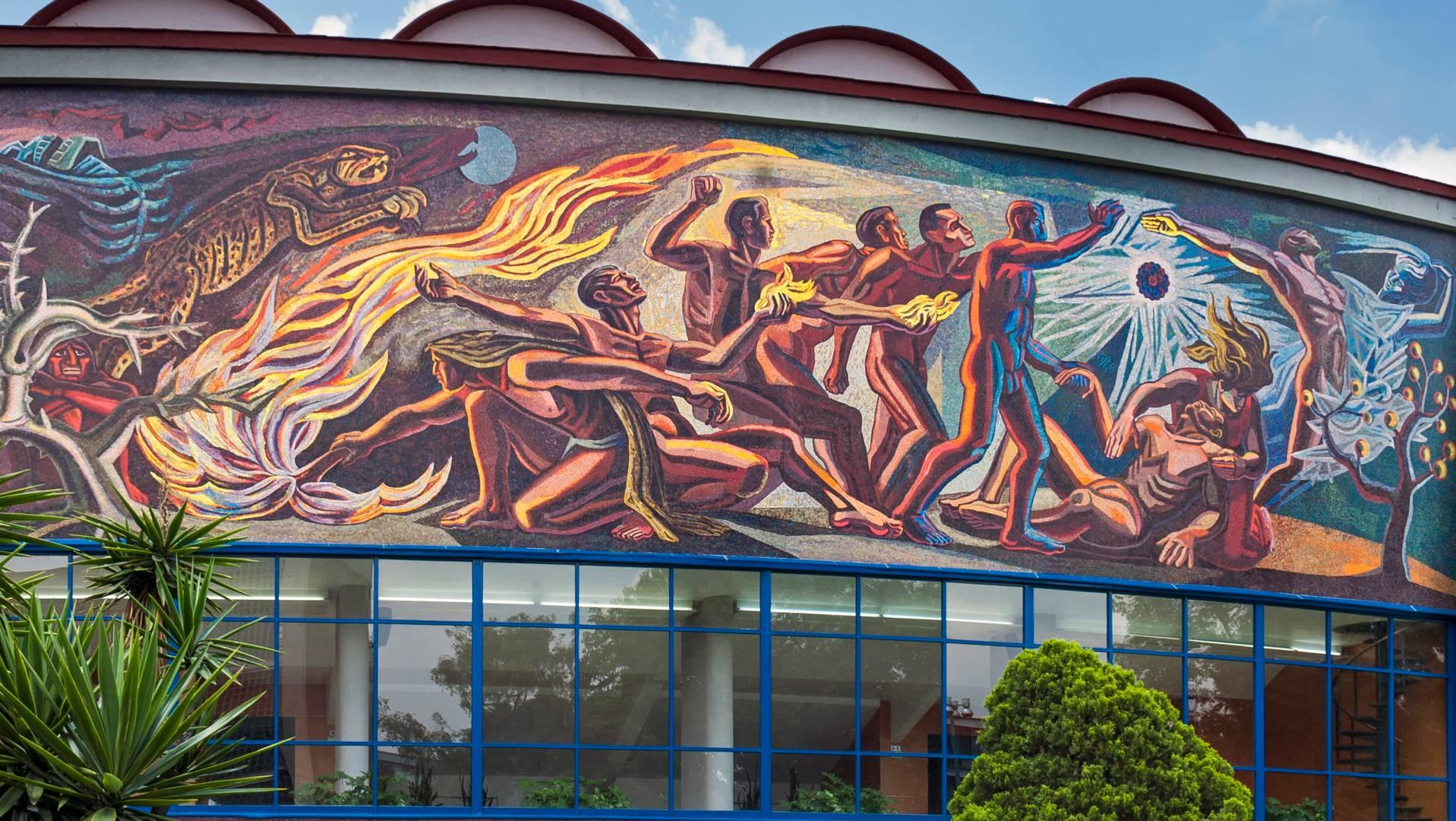Ч. Морадо. Мозаика на здании факультета естественных наук, Университетский городок, Мехико, Мексика