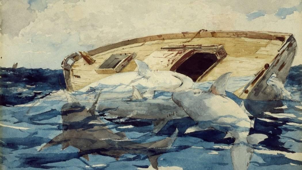 Уинслоу Хомер. Акулы. 1885