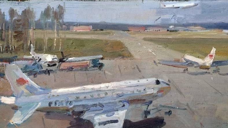 Юрий Николаевич Дудов. Аэродром. Конец 1950-х