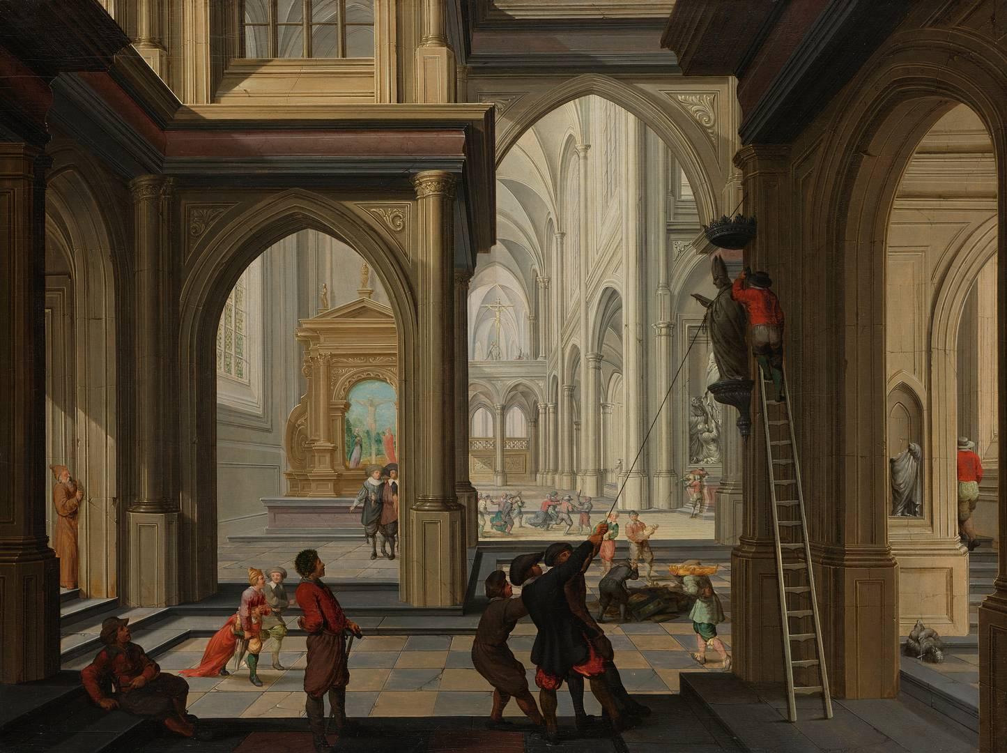 Дирк Ван Делен. Иконоборцы в церкви. 1630