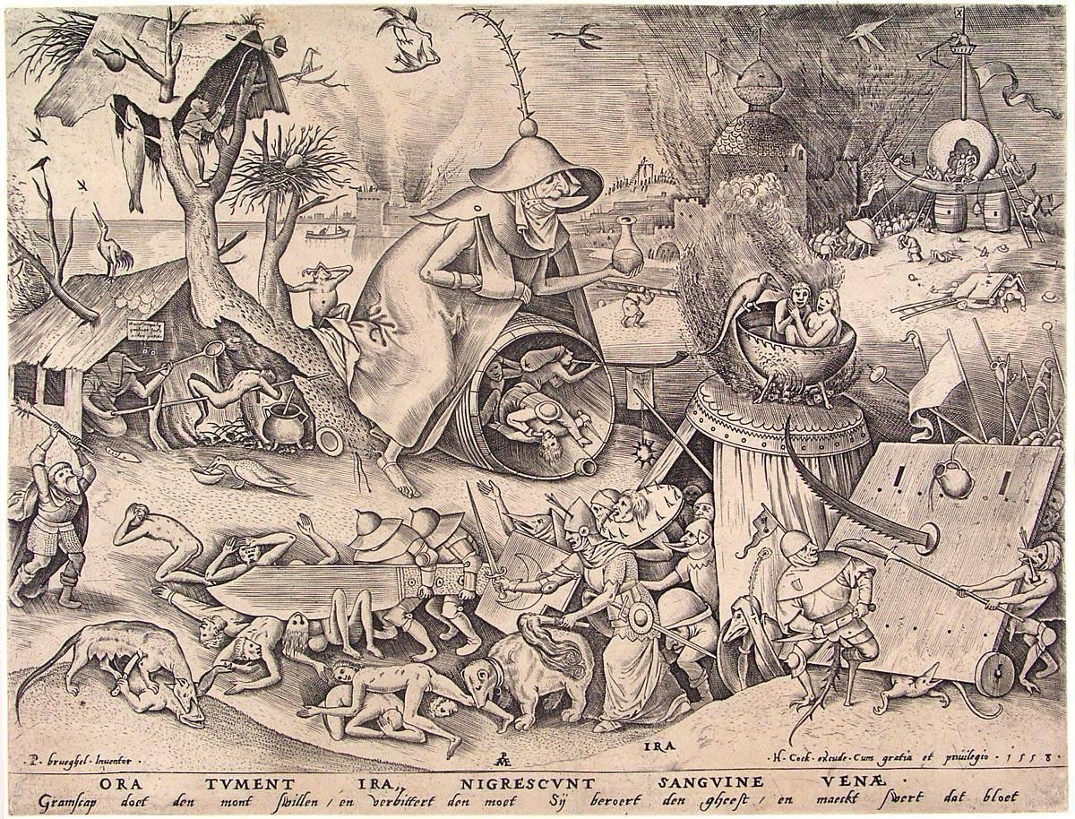 Питер Брейгель Старший. Гнев. ок. 1560