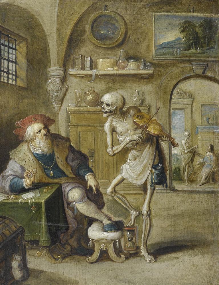 Франс Франкен Младший. Смерть, играющая на скрипке. (ок. 1625)
