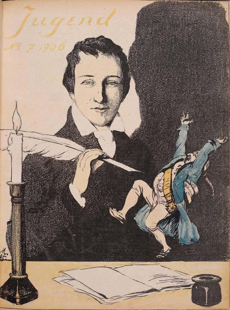 Сергей Соломко. Генрих Гейне на обложке журнала Jugend за 1906 г.