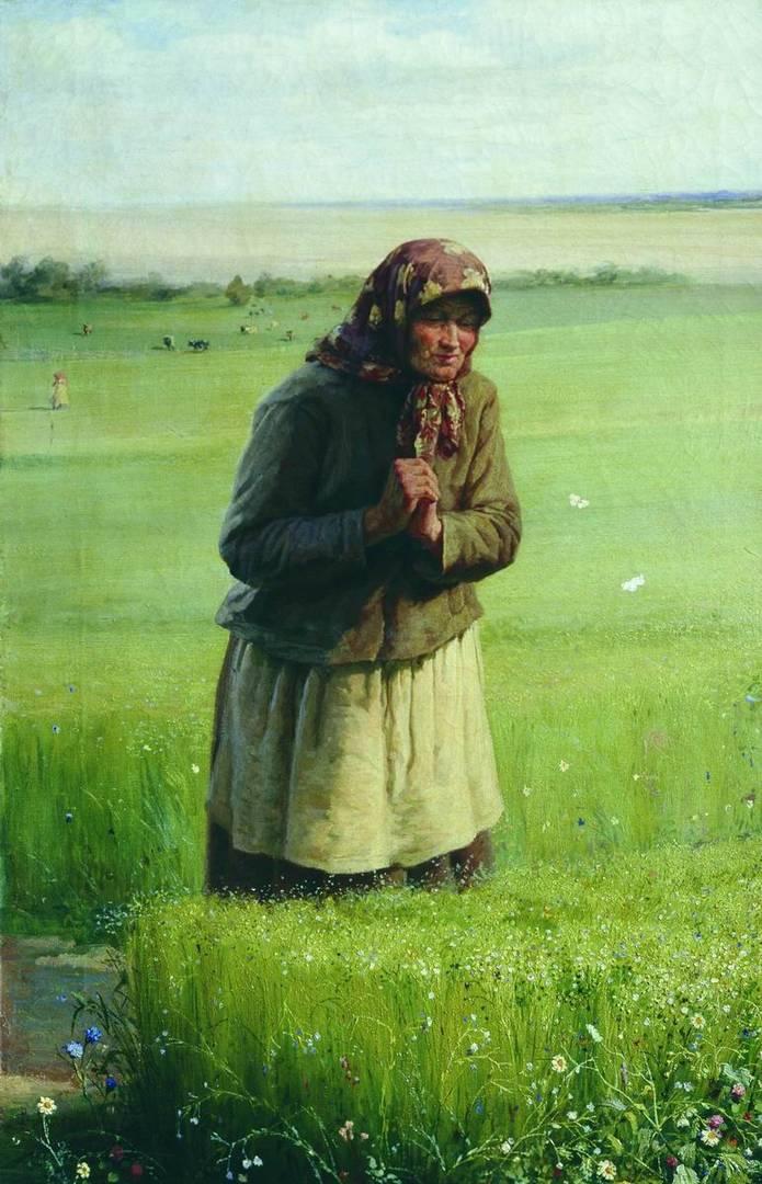 Василий Максимов. У своей полосы. 1891