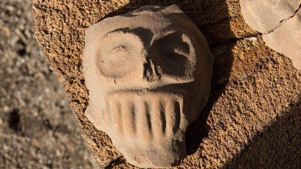 Глиняная маска смерти, Мексика