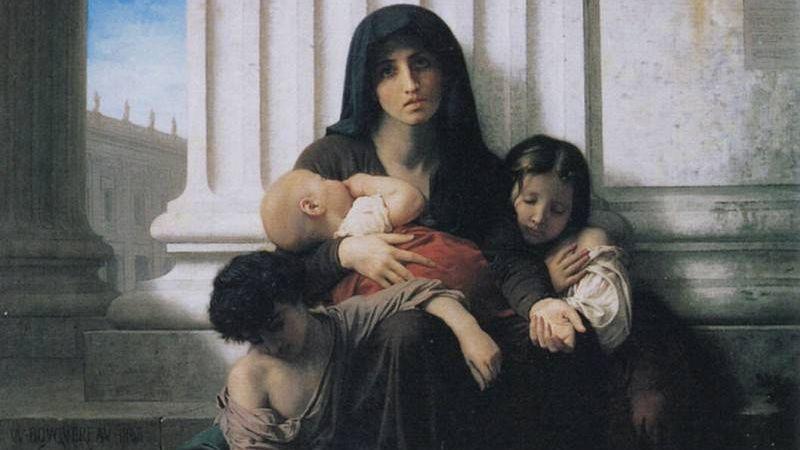 Адольф Вильям Бугро. Неимущая семья. 1865