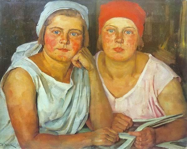 Константин Юон. Комсомолки. 1926