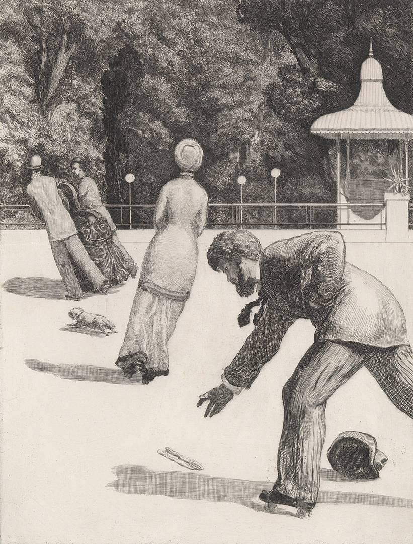 Макс Клингер. Действие. Офорт № 2 из серии «Парафразы к найденной перчатке»). 1881