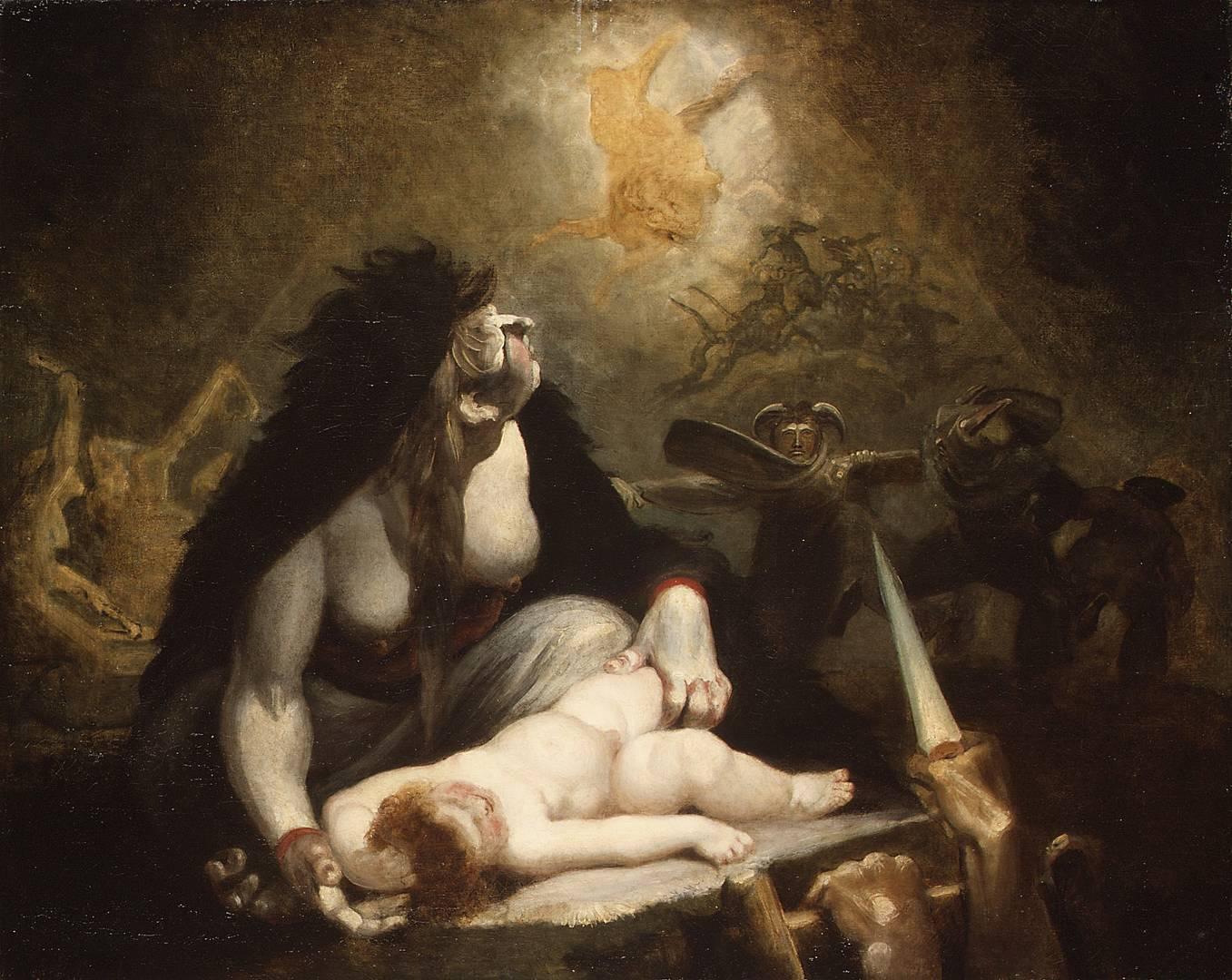Иоганн Генрих Фюссли. Визит ночной ведьмы. 1796