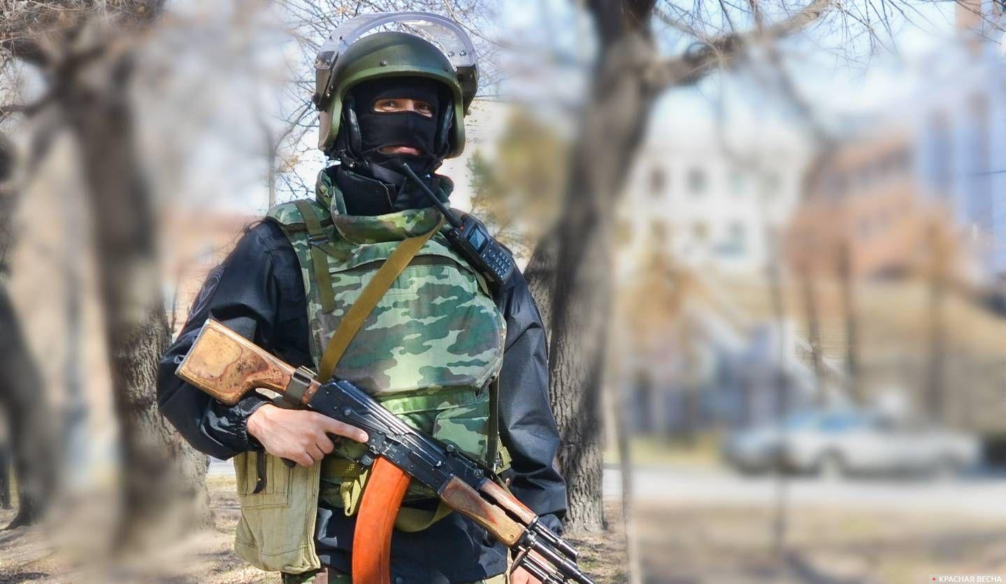 Оцепление района теракта