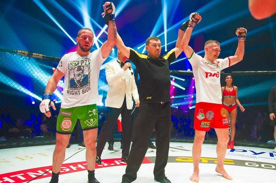 Ньчья между Кириллом Крюковым и Алексеем Мартыновым на турнире FIGHT NIGHTS GLOBAL 91
