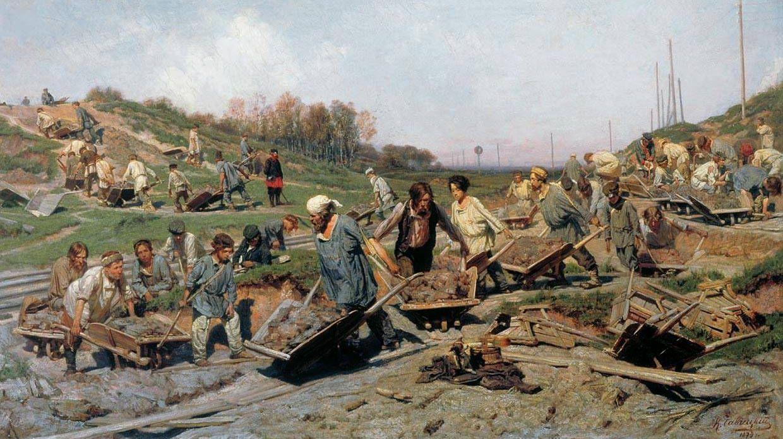 Савицкий Константин. Ремонтные работы на железной дороге.1874