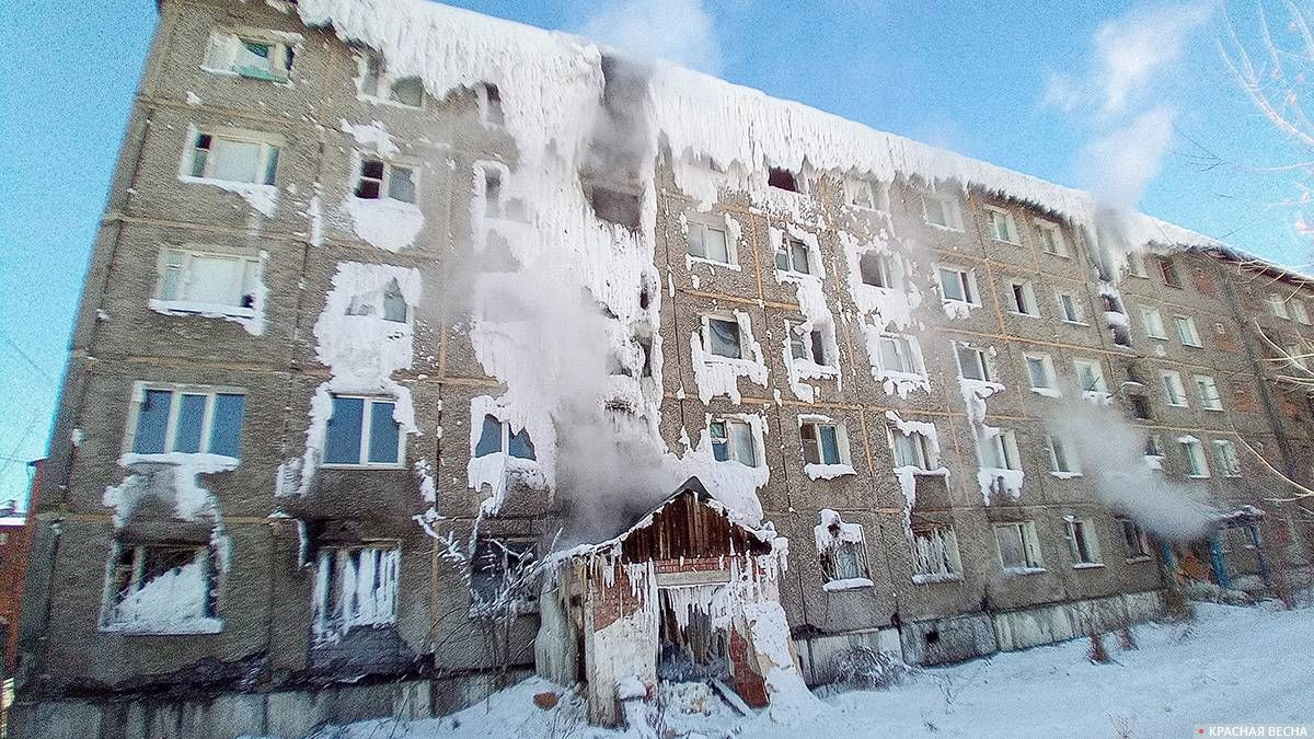 Аварийное общежитие в Иркутске