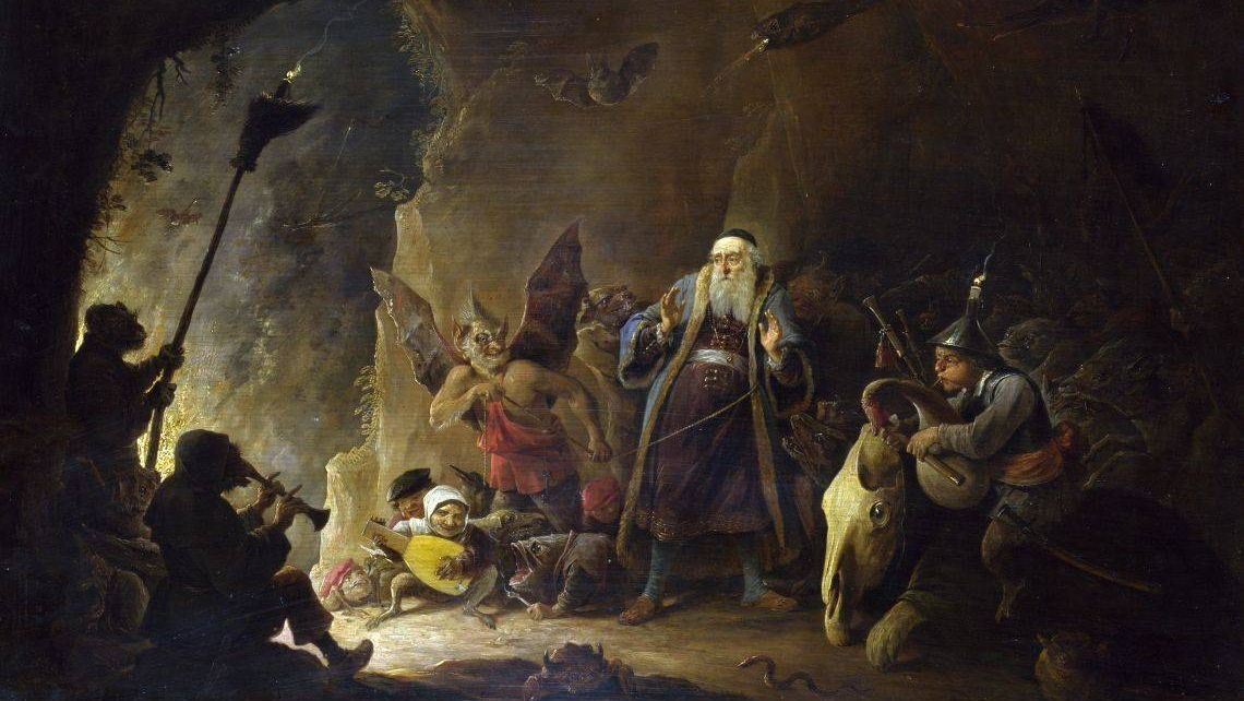 Давид Тенирс Младший. Богача ведут в ад. XVII век