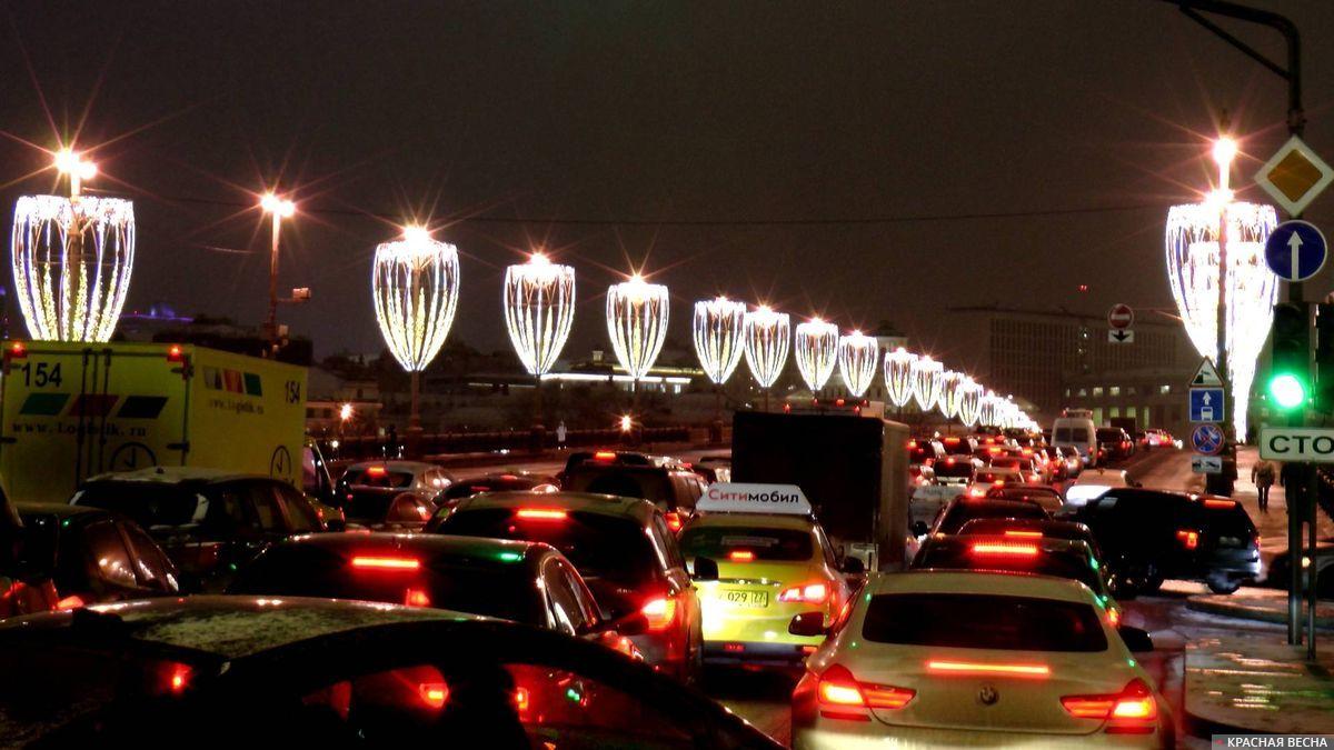 Новогодняя пробка в Москве