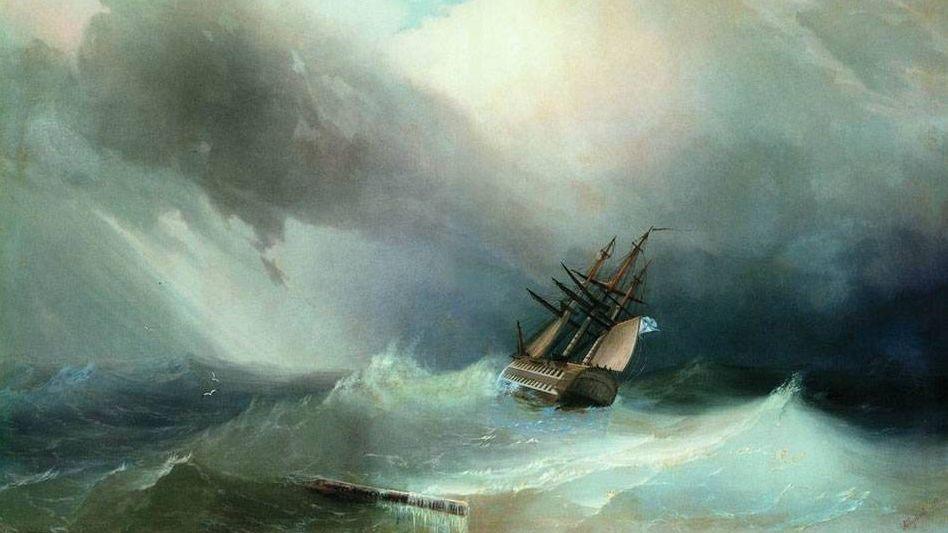 Иван Айвазовский. Буря. 1851