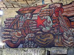 Мозаика в заброшенном доме-памятнике на вершине Бузлуджа в Болгарии (фото: Марк Эшман)