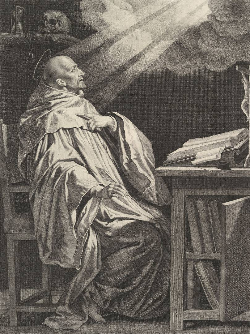 Жан Морен после Филиппа де Шампаня. Бернард Клервоский. XVII в.