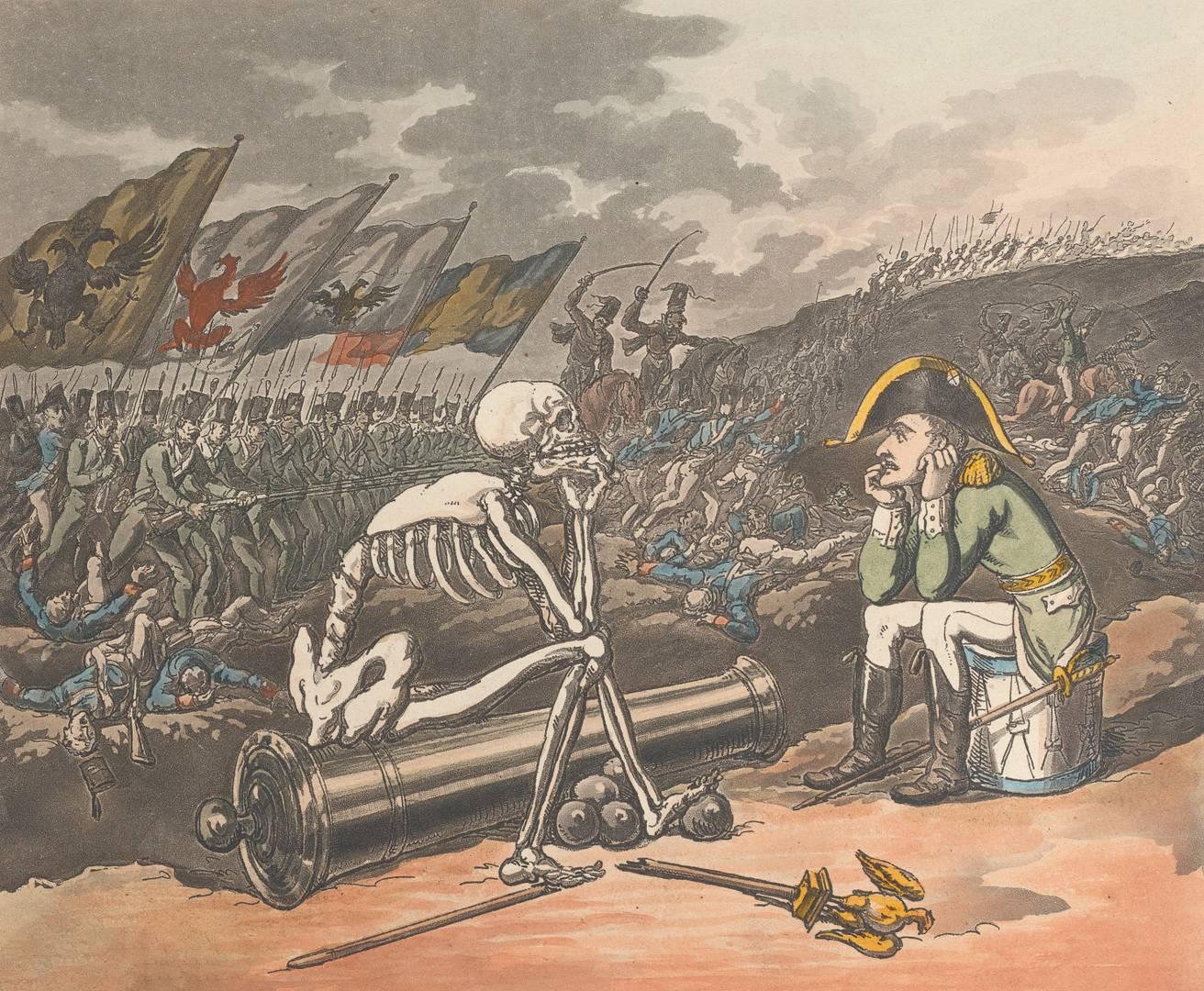 Томас Роулендсон. Смерть и Бонапарт — два короля террора. 1 января 1814 г.