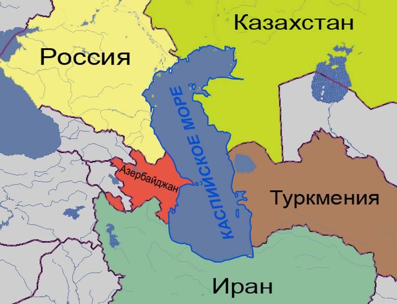Государства, имеющие выход к Каспийскому морю