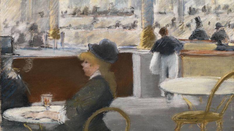 Эдуард Мане. Интерьер в кафе. 1880