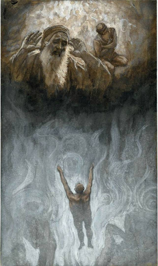 Джеймс Тиссо. Богач в аду, Авраам и Лазарь