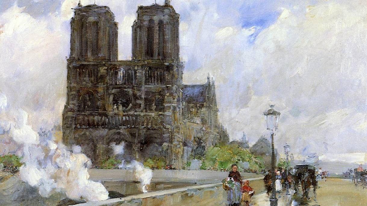 Гассам Чайльд. Собор Парижской Богоматери, Париж. 1888