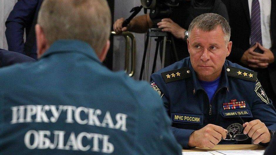 Совещание по ситуации с наводнениями в Иркутской области
