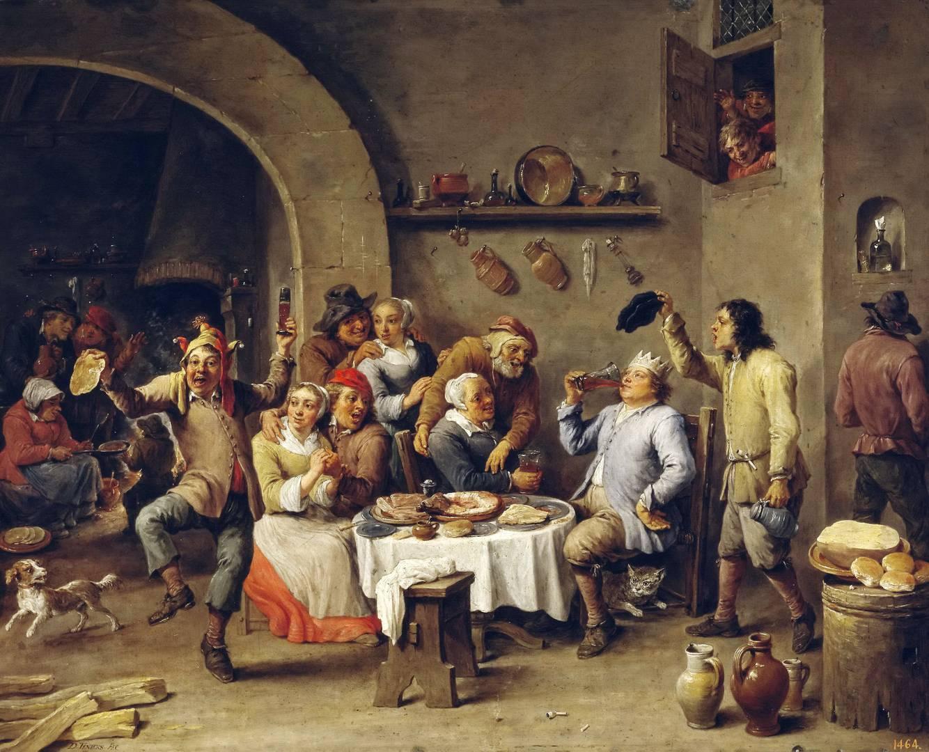 Давид Тенирс Младший. Король пьет (Двенадцатая ночь). 1634-1640