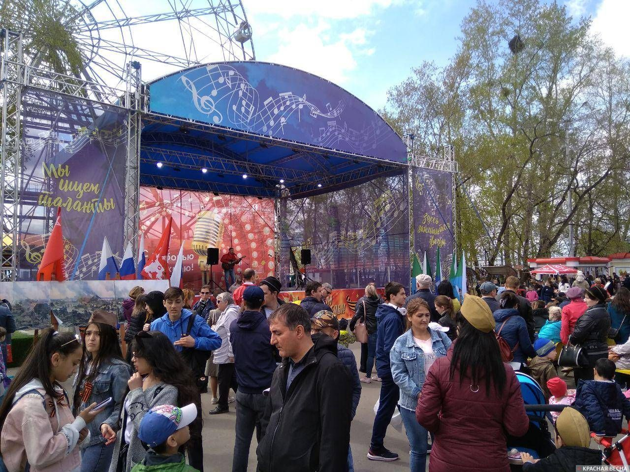 Начался концерт «Сути времени», посвященный 74-й годовщине победы в Великой Отечественной войне. 9 мая 2019