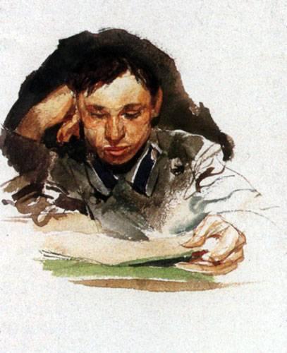 Врубель Михаил. Студент. 1882