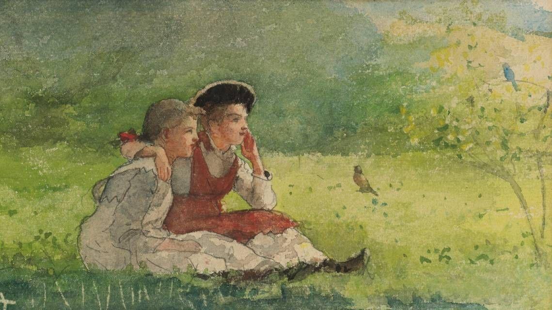 Уинслоу Хомер. Слушая птиц. 1879