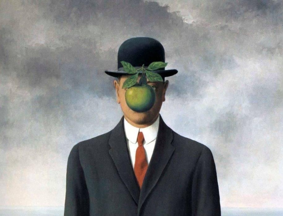 Рене Магритт. Сын человеческий (фрагмент). 1964