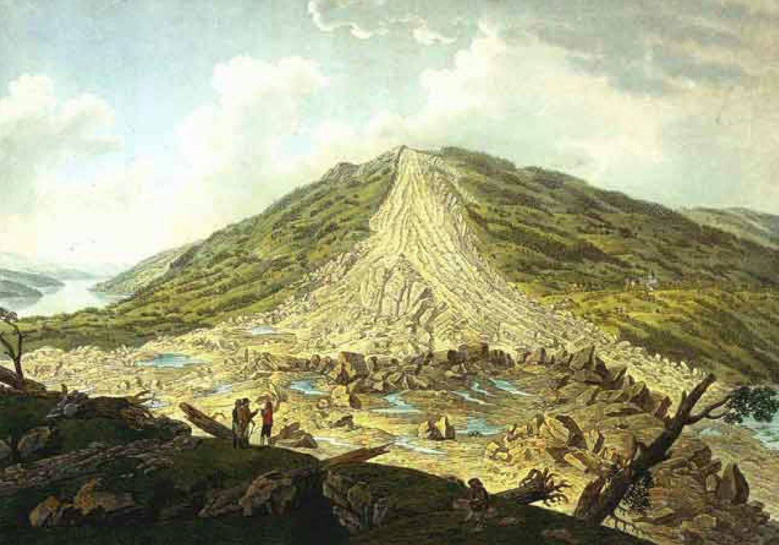 Франц Ксавьер Тринер. Оползень в Голдау. 1806
