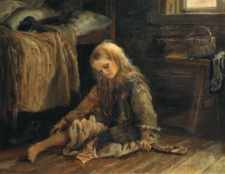 Алексей  Корзухин. Девочка. 1877